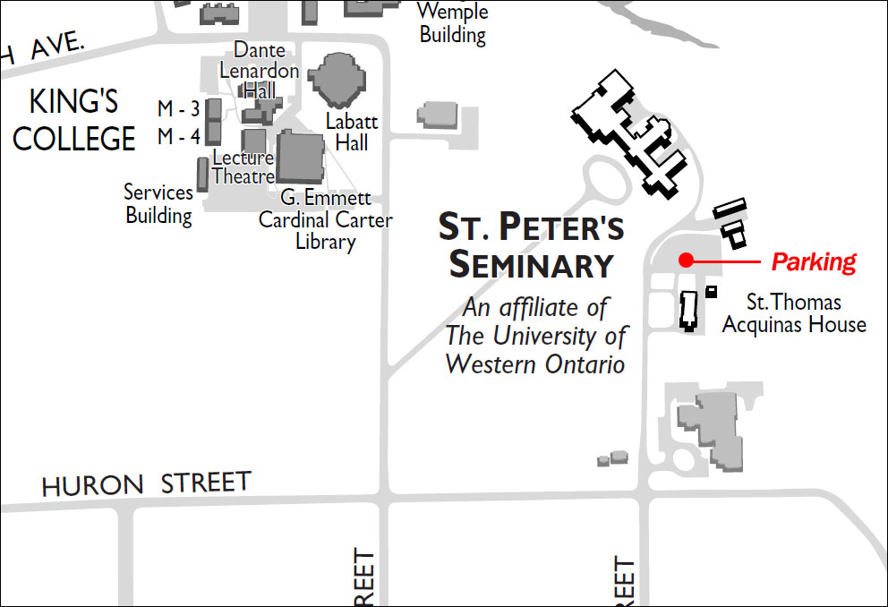 St. Peters Seminary Parking Map