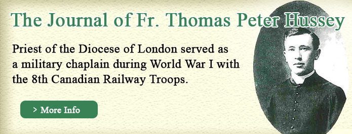 Journal of WWI Fr. Thomas Peter Hussey